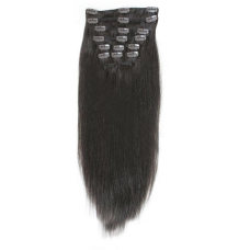 Virgin Remy hair clip on extension 18